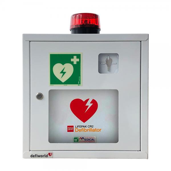 AED Wandschrank mit Alarmfunktion