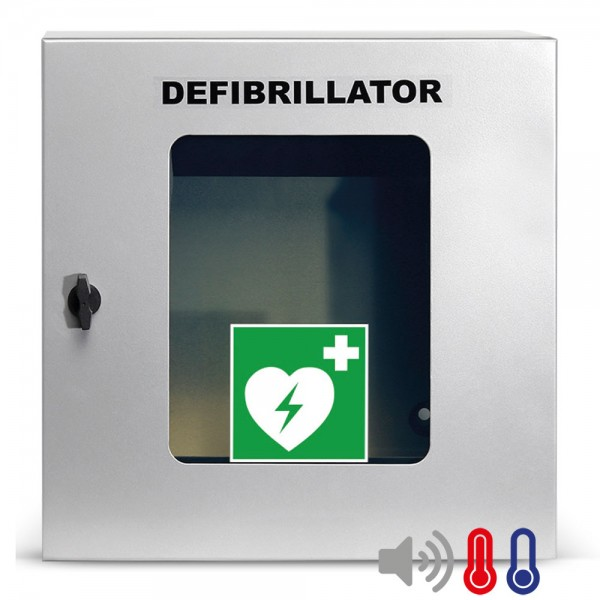 Universal Defibrillator (AED) Außen-Wandkasten, belüftet, Alarme, beleuchtet